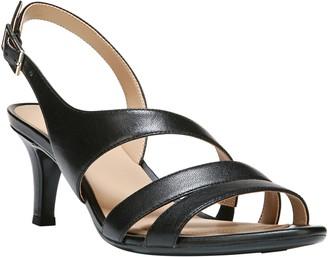 c1e8f5f8c8c7 Naturalizer Black Slingback Strap Women s Sandals - ShopStyle