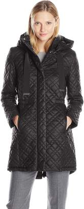 T Tahari Women's Outerwear Marykate Quilted Anorak