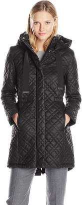 T Tahari Women's Marykate Quilted Anorak Jacket