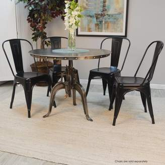 Carolina Chair and Table Mundra Adjustable Crank Table, Antique Nickle
