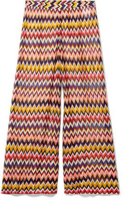 Missoni Mare Cropped Crochet-knit Wide-leg Pants