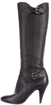 MoschinoMoschino Leather Knee-High Boots