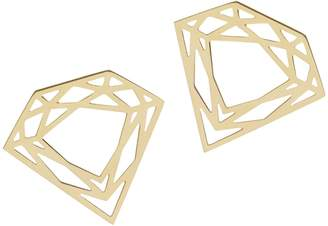 Myia Bonner Gold Classic Diamond Stud Earrings