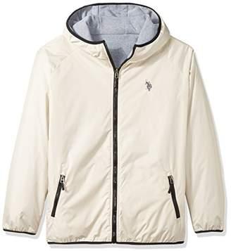 U.S. Polo Assn. Men's Standard Reversible Poly Shell to Fleece Hooded Jacket