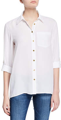 MICHAEL Michael Kors Button-Front Drop-Shoulder Pocket Shirt