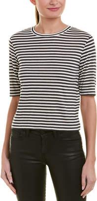 Vince Silk-Blend Crop T-Shirt