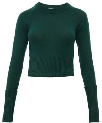 e205cb14827954 Prada Cropped Cashmere Sweater - Womens - Dark Green