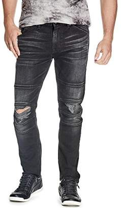 GUESS Men's Slim Tapered Moto Jean