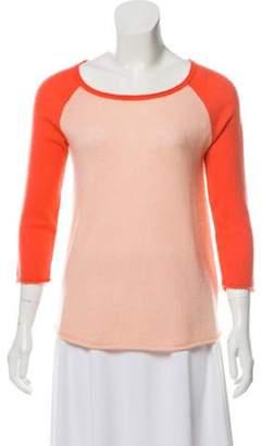 Calypso Cashmere Bicolor Sweater Pink Cashmere Bicolor Sweater