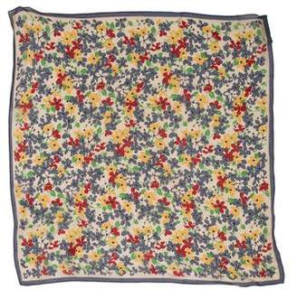 Marc Jacobs Silk Floral Print Scarf