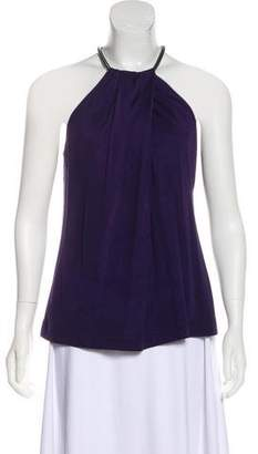 Halston Sleeveless Draped Top