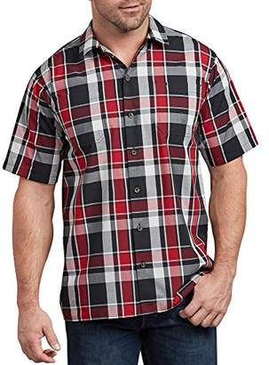Dickies Men's Yarn Dyed Short Sleeve Camp Shirt Big-Tall