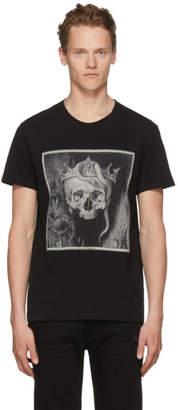 Alexander McQueen Black Crowned Skull T-Shirt