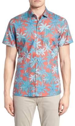 Tori Richard Pick a Palm Trim Fit Camp Shirt
