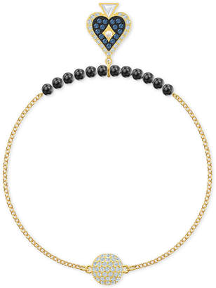 Swarovski Remix Collection Gold-Tone Beaded, Tarot & Crystal Ball Statement Bracelet