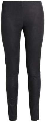 Drome Lizard-Effect Leather Leggings
