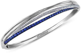 Effy Royal Bleu by Sapphire (1-1/10 ct. t.w.) and Diamond (1/3 ct. t.w.) Bangle Bracelet in 14k White Gold