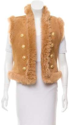 Balmain Shearling Reversible Vest