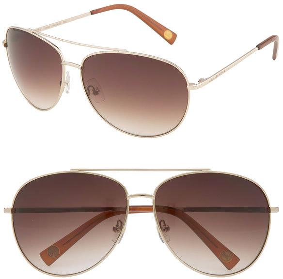 MICHAEL Michael Kors Aviator Sunglasses