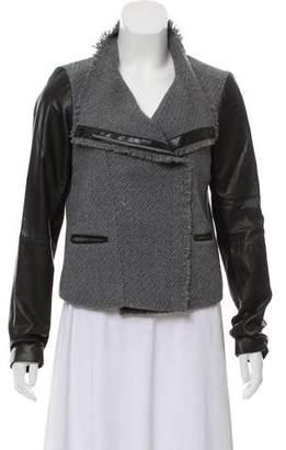 Vince Leather-Trimmed Jacket