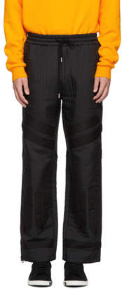 Feng Chen Wang Black Quilted Jacquard Trousers