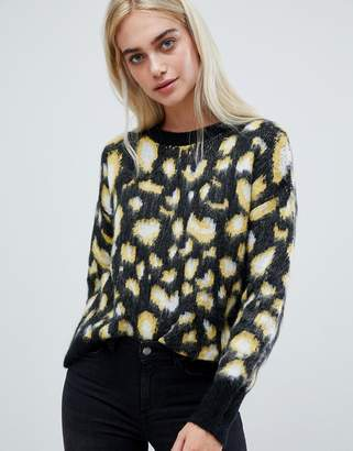 Pieces Leopard Sweater