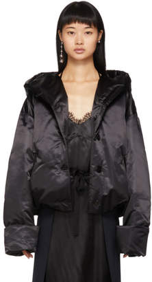 MM6 MAISON MARGIELA Black Down Satin Jacket