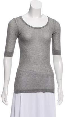 Isabel Marant Short-Sleeve Knit Top