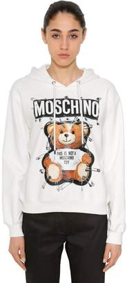 Moschino Safety Pin Bear Cotton Sweatshirt Hoodie