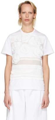 Junya Watanabe White Flower Applique T-Shirt