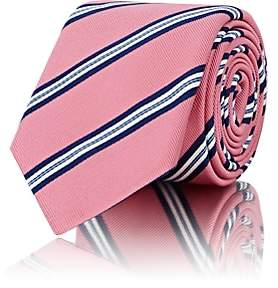 Barneys New York MEN'S STRIPED SILK-COTTON NECKTIE