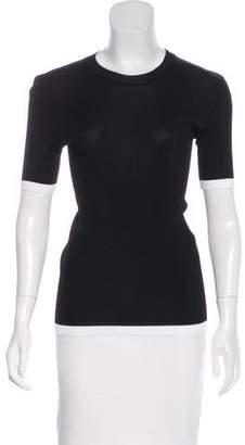Givenchy Short Sleeve Rib Knit Top