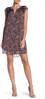 Daniel Rainn DR2 by Cap Sleeve Lace Yoke Dress