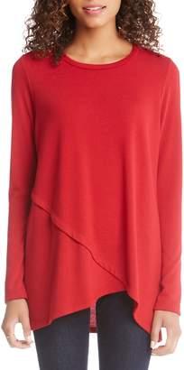 Karen Kane Asymmetrical Knit Top