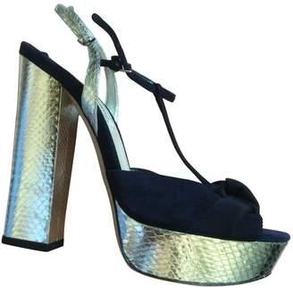 c30f234a2ce Navy Suede Sandals - ShopStyle UK