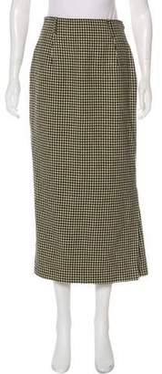 Calvin Klein Collection Houndstooth Wool Maxi Skirt