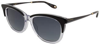 Givenchy Sunglasses Gv7072 / Frame: Black And Clear Lens: Blue Gradient