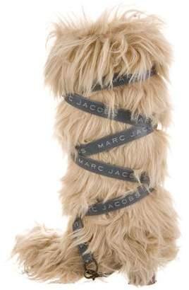 Marc Jacobs Faux Fur Logo-Embellished Boots