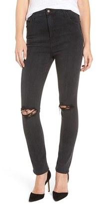 Women's Joe's 'Flawless - Bella' Ripped High Rise Skinny Jeans $210 thestylecure.com