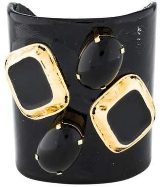Erickson Beamon Patent Leather & Resin Cuff