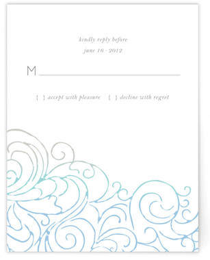 Ocean Flourish RSVP Cards
