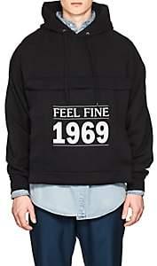 """Balenciaga Men's """"Feeling Fine 1969"""" Cotton-Blend Fleece Hoodie-Black"""