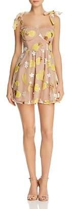 For Love & Lemons Embellished Mini Dress