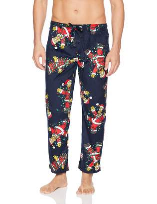 Briefly Stated Men's Holiday Simpsons Lounge Pants, red, XL