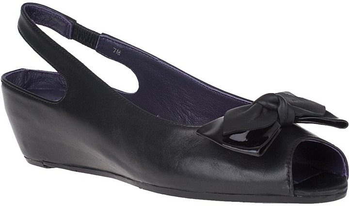 VANELI FOR JILDOR Elzira Slingback Pump Black Leather