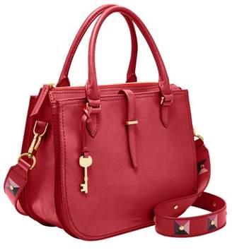 Fossil Ryder Satchel Handbag Poppy Red