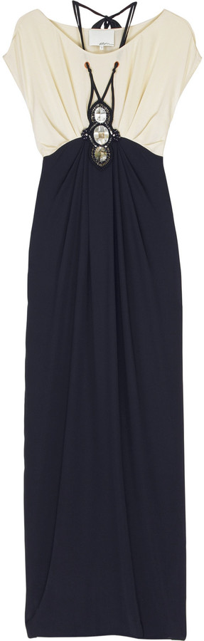 3.1 Phillip Lim Bi-color crepe dress