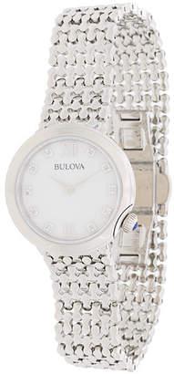 Bulova diamond set bracelet watch
