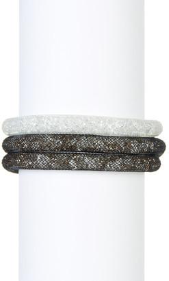 Swarovski Stardust Crystal Filled Mesh Bracelet - Set of 2 $125 thestylecure.com