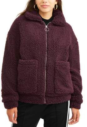 BHIP Juniors' Zip up Babo Fur Jacket with Quilted lining